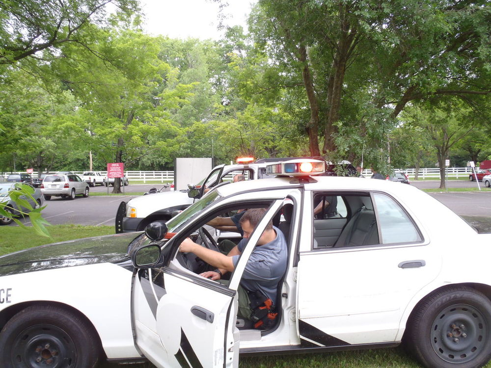 cadet practicing vehicle stop